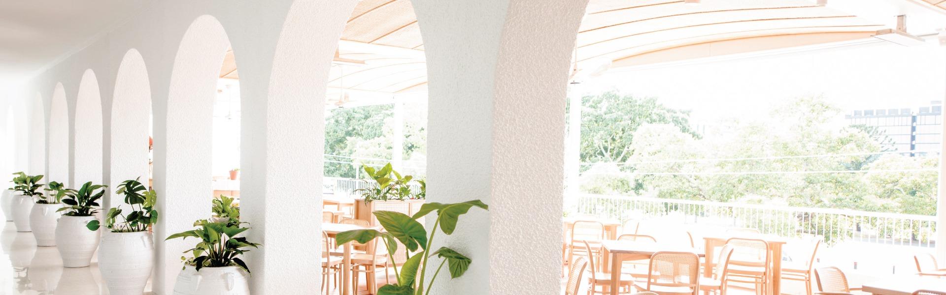 Santorini inspired Venue restaurant in Brisbane
